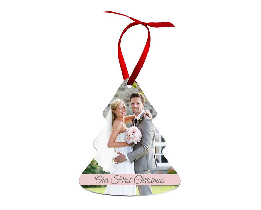 Μεταλικό φωτοστολίδι για το Χριστουγεννιάτικό δέντρο