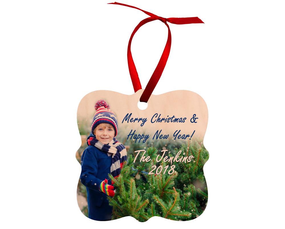 Ξύλινο φωτοστολίδι για το Χριστουγεννιάτικό δέντρο